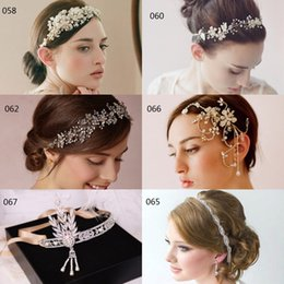 Wholesale Vintage Hair Accessoies Bridal Crown Tiara Wedding Jewelry Crystal Rhinestone Pearl Bridesmaid Hair Band Headpieces Wedding Hair Clips