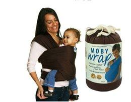 abrazar con una envoltura de honda del bebé de algodón sólido elástico del abrigo del bebé transportistas genuino bolso mochila portabebe elástica de bebé para los niños del envío libre