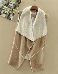 Wholesale Female Warm Vests Casual Cardigans Single Manteau Suede Fabric Cotton Vest Jacket Coat Fashion Women Wear Outwear T22