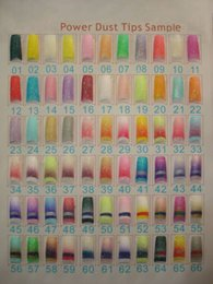 Wholesale FREESHIPPING Wholesales styles Glitter Nail Tips pre design Acrylic Nail Art Manicure tips package