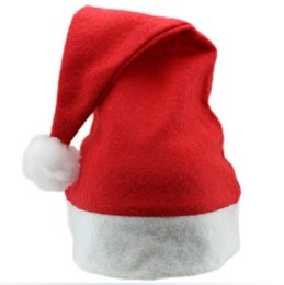 Wholesale Christmas decorations adult children generic red Santa Claus hat ordinary Christmas hat Red Hat