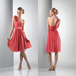 Short Chiffon One Shoulder Bridesmaid Dresses Online | Short ...