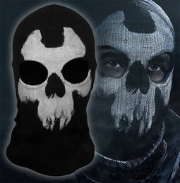 Wholesale 2015 New models Mask New call of duty X Ghosts Outdoor Hat Cycling Bike Motorcycle Windproof Masks CS Game Face Halloween Cosplay
