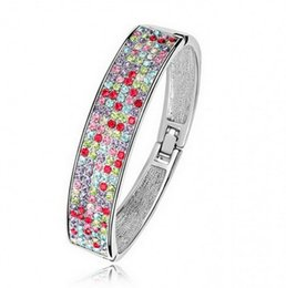 Wholesale Hot Korean Austrian crystal bracelet full of diamond jewelry in Europe and America exaggerated wide bracelet