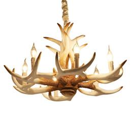 handmade craft artistic vintage resin antler design chandelier 6 headsresin material rh loft light american rustic light order18no track cheap rustic cheap rustic lighting