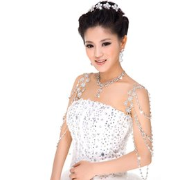 Wholesale 2015 Sfani Hot Selling Stunning Bridal Jewelry Suits Crystals Prom Evening Accessories Tiaras Necklace