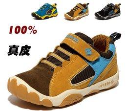 Wholesale Childrens Sports Shoes High grade leather sports shoes Real leather hiking shoes camel super light travling shoes boy antiskid shoes