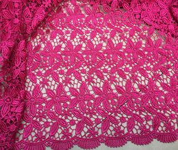 Wholesale by DHL High quality pink cupion lace fabric cord lace guipure lace fabric SY009