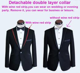 Wholesale New men Groom Wedding Suits Dinner Pop Suit Tuxedo