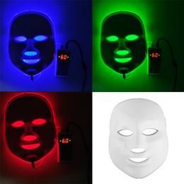 Coreano LED Máscara Facial Fotodinámica Inicio Uso Equipo De Belleza Anti-acné Rejuvenecimiento De La Piel LED Máscaras Fotodinámicas 3Colors Luces 0602011