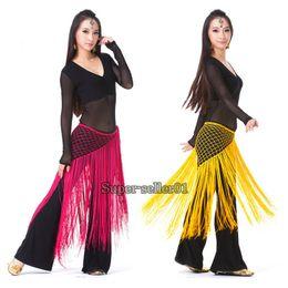 Wholesale NEW Fashion Belly Dance Costume Tribal Tassel Hip Scarf Wrap Belt Skirt Fringes