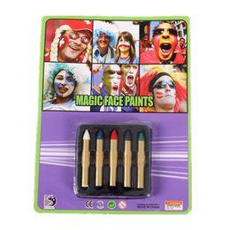 Wholesale 5 Color Magic Face Paints Face Body Paint Make Up Sport Fans Face Painting for Halloween Carnival