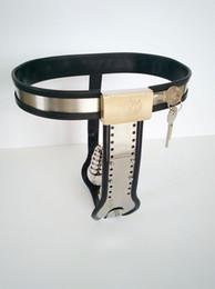 Wholesale Ajustável em forma de T de aço inoxidável Novo Estilo Feminino Cinto de castidade Plug Anal Bondage engrenagem Sex Toys Jogos para as Mulheres