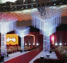 Wholesale Crystal Garlands Acrylic Gems Bead Strands Wedding Centerpieces Manzanita Tree Hung Strands Strung