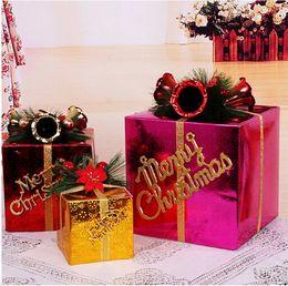 Wholesale 20cm Christmas Gift Box Packing Box Ornament Large Wedding Supplies Christmas Gift Bag Xmas Bag for Children Christmas Decoration Supplies