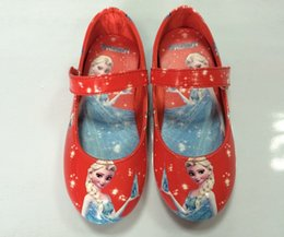 Wholesale EMS DHL FEDEX Fast Autumn Frozen Elsa Anna Princess Shoes New Style Girls Party Shoes First Walking Sports Shoes Color J2060