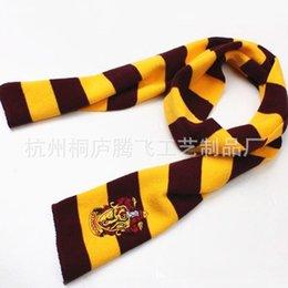 Wholesale Children kids scarves Harry Potter badge college Gryffindor embroidery boys girls cosplay scarf kids crochet shawl J102206
