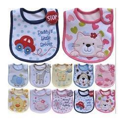Wholesale Infant saliva towels layer Baby Waterproof bibs Baby wear accessories kids cotton apron Burp Cloths animal bib pinafore A072804