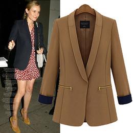 Wholesale 2014 New Fashion Winter Women Slim Blazer Coat Casual Jackets Long Sleeve V Neck business suit OL Outerwear