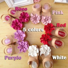 Wholesale Summer Children Sandals for Girl D Big Flower Cowhells Sole PU Fabric Girls Princess Shoes Y Baby Sandals Shoes