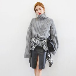 Wholesale 2015 Dongguk door purchasing stylenanda fashion unique split side short in front long thick sweater