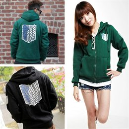 Wholesale CosPlay Cloths Attack on Titan Shingeki Legion Scouting no Kyojin Hoodies Coat Costume Jacket Cool
