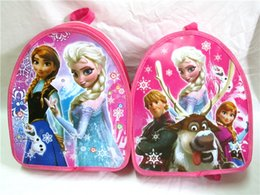 Wholesale 30pcs In Stock New Children School Bags Frozen Elsa Anna Backpacks Bag Fashion Princess Snow Queen Double Shoulder Baby Bags DHL Ship