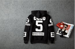 Wholesale homme fremme coco cc hip hop clothing westcoast over coat sweater Print Harajuku hoodies tops with cap