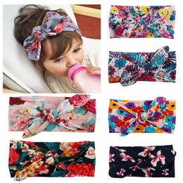 Wholesale Bohemian Headband Cotton Girl Baby Bowknot Flower Turban Twist Head Wrap Twisted Knot Soft Hair Band Kids Headbands Bandanas