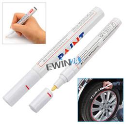 Ручка для маркировки шин для автомобильного велосипеда Быстросохнущие чернила Водонепроницаемая белая перфорированная коробочка с надписью 1000