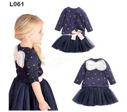 Wholesale New baby clothes girls outfits baby set tee tu tu skirt suit lace dress tops bow T shirts children s clothing