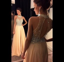 Discount Prom Dresses Cream | 2017 Cream Backless Prom Dresses on ...