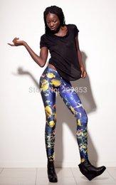 Wholesale w1025 sexy leggings Milk galaxy leggings tropical fish lady s star leggings seamless leggings pant