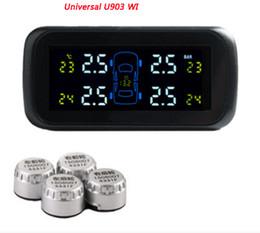 Горячая система контроля давления в шинах Универсальный U903 WI Автомобиль с 4 шт внешней sensorssystem, 4 шт Внутренние датчики, экран дисплея Цвет, TPMS