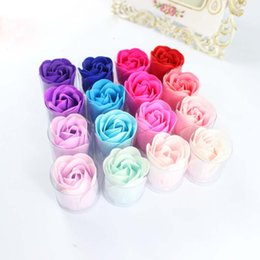 Wholesale New Romantic Wedding Bath flower party Rose made of Soap Wedding Favor Sweet packaging Rose Shape Soap Flower Bath Soap