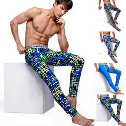 Wholesale 2014 Autumn Winter Men s Thermal Long Johns Underwear With Pouch Lined Inside Cotton Leggings Sleepwear