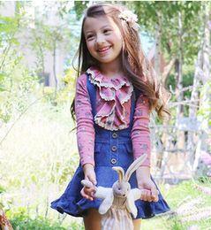 Wholesale New Spring Autumn Fashion Long Sleeve Cute Little Girls Floral Print Cotton T Shirt Kids Print Tops Children Tees A7186