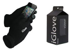 Wholesale 100paris IGlove Screen touch gloves with High grade box Unisex Winter for Iphone touch glove colors