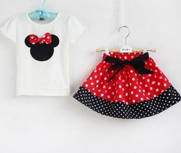 Wholesale Girl s Suits Tshirt Pants Skirt Desigs Sizes Y New Baby girls Outfits Sets Outwear Minnie Mouse dress