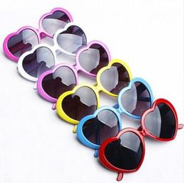 Gafas de sol del corazón en forma de caramelo Colores Hombres Y Mujeres verano Gafas UV400 Shade envío libre