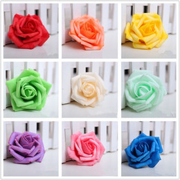 100 Pieces Lot 7cm Wedding Decorative Flowers Handmade Rose Flowers Wedding Party Artificial Foam Roses Home Party Decoration