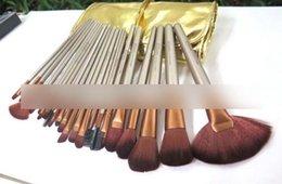 Wholesale Precio más bajo nuevo NUDE marrón set pincel de maquillaje profesional con DHL LIBRE bolsa de cuero