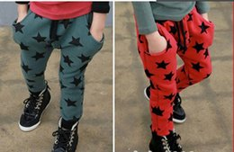 Wholesale 2016 new boys casual pants star print baby boy cool trousers kids child leisure pant children spring autumn fashion clothes
