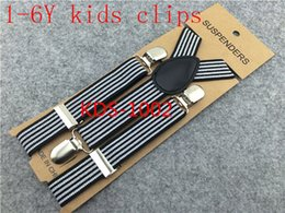 Wholesale x65cm Kids Suspenders Children Boys Girls Elastic Braces Y back Suspenders stripes size color order