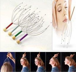 Wholesale New Head Neck Scalp Massager Massage Tool Stress Relax Hair care health monitors body massager massageadores HF112