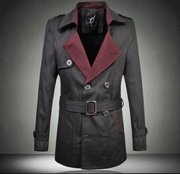 Mens Pea Coat With Belt | Down Coat