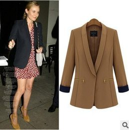 Wholesale New autumn Clothing Womens Polyester fiber Blazers Long Sleeve Loose Coats And Jackets Z750