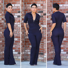 Wholesale Women and Big Girls Short Sleeve Sexy Pant Trousers Woman Sexy Europe Style Jumpsuit Clothes B