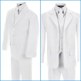 Wholesale White Tuxedo for grooms Tuxedos Design For Men piece custom made Men Suits For Wedding Jacket Pant Tie Vest Personalized Tuxedo AE52618