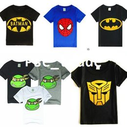 Wholesale Children Kids Clothing Tees Cool Superman Baby Boys T Shirts For Summer Children Outwear Baby T shirt